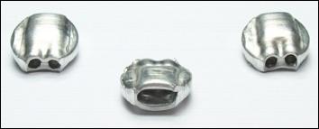 1.000 Aluminiumplomben 10 mm Ø, Form 71