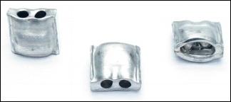 1.000 Aluminiumplomben 10 x 10 mm, Form 64