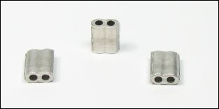 1.000 Aluminiumplomben 6 x 7 mm, Form 61